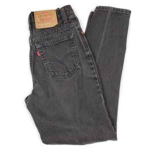 Vintage 512 Levis High Waist Faded Black